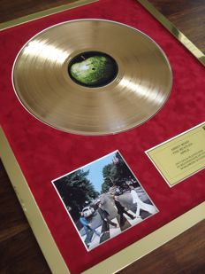 The Beatles Abbey Road 24ct Gold Plated Disc Record LP Album Award