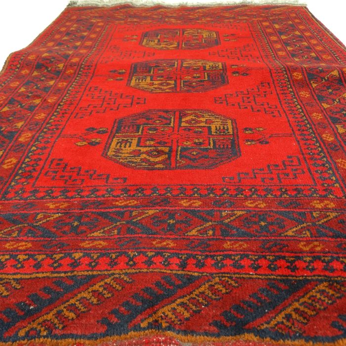 Afghan - 120 x 82 cm - 'Authentic Persian rug - 100% wool - in beautiful condition' - with certificate
