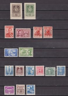 Spain 1936/1945 – Lot of stamps and complete series – Edifil 727/728, 757/758, 961/969, 983, 990, 991/992.
