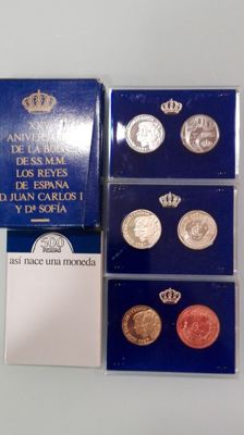 Spain - Lot of 11 coins - 1987/1990 - 5th Centenary series I and II and 25th Anniversary of the wedding of Their Majesties King and Queen of Spain.
