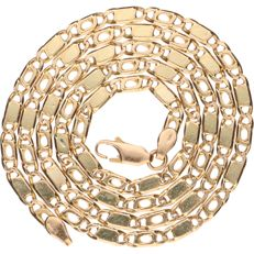 Yellow gold 14 kt Figaro link necklace - Length: 56 cm.