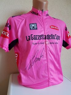 Tom Dumoulin - Pink jersey Hand-signed + COA