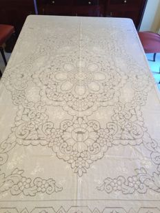 "Tablecloth in Sicilian drawn thread ""500"""