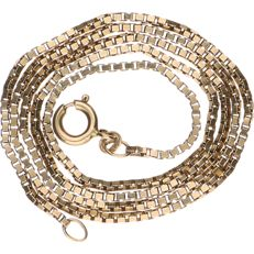 14 kt Yellow gold Venetian link necklace - Length: 48 cm