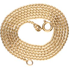 14 kt Yellow gold S-link necklace - Length: 65 cm.
