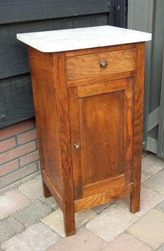 Oak cabinet with marble slab, Netherlands, first half 20th century