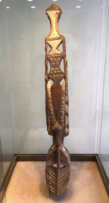 Magnificent, large, ancient polychrome dance mask carved in wood - MOSSI - Burkina Faso