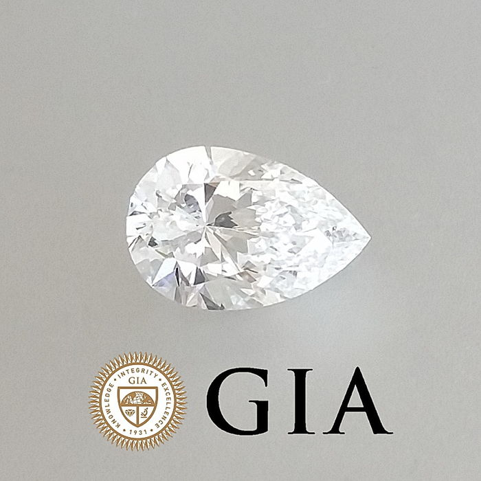 GIA 0.78 ct E/SI1 Pear Brilliant Diamond ***Original Image***