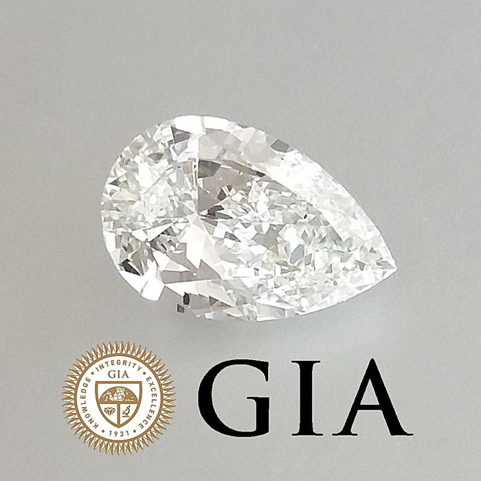 GIA 1.00 ct H/VVS1 Pear Brilliant Diamond ***Original Image***