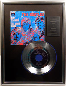 """The Beatles - Lady Madonna - 7"""" Single Parlophone Records platinum plated record Special Edition"""