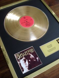 The Doors debut album 24ct Gold Plated Disc Record LP Album Award