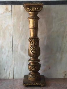 Column in golden gilt, 20th century, France