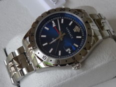 VERSACE Hellenyium GMT Blue Dial Luxury Men Dive watch