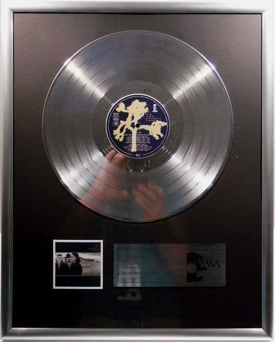 "U2 - the joshua tree 12""  german platinum plated record by WWA Awards"