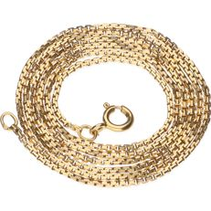 14 kt yellow gold Venetian link necklace – Length 62 cm
