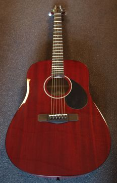 New Samick Greg Bennett Gold Rush Series Dreadnought Mahogany D1WR, Wine Red