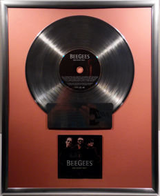 "Bee Gees - One Night Only -  12"" Polydor Music platinum plated record with CD and cover by WWA gold Awards"