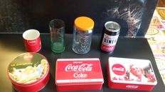 lot of 7 advertising products of COCA COLA
