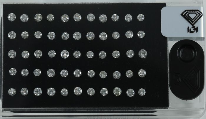 "IGI Certified 3.40 ct. "" Diamond D Box "" Round Brilliant Natural Diamonds -  J-K-L / I1-I2"