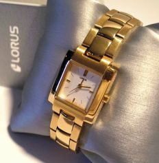 Women's watch by LORUS NUOVO, made in Italy. 24 ct gold-plated steel.