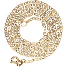 14 kt yellow gold curb link necklace - length: 51 cm