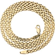 14 kt yellow gold Rolex link necklace – Length 45.2 cm