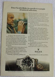 Rolex Advertising - Submariner 1970 - Original - Peter Scott