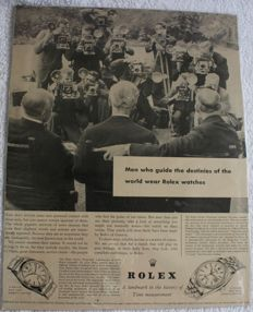 Rolex Advertising - 1956 - Original - Oyster Red Seal Chronometer