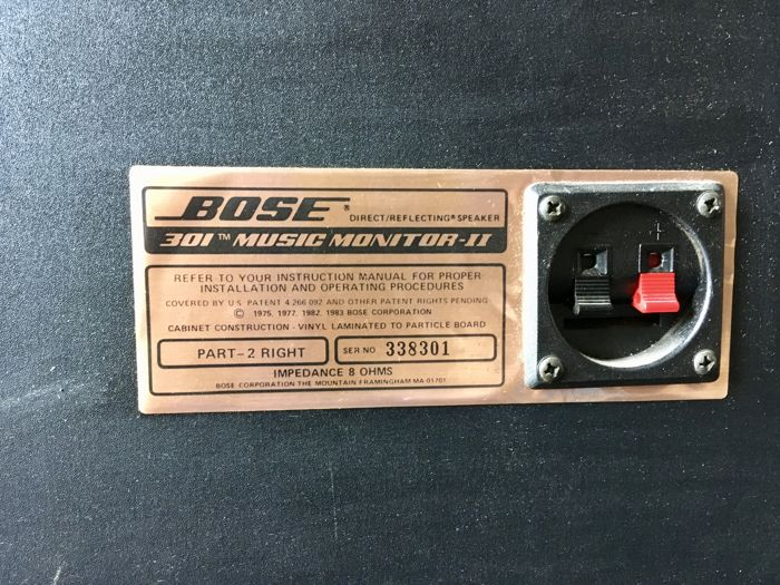 Bose direct reflecting speaker 301 music monitor series 2