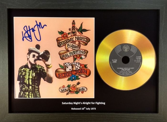 Elton John -  Preprinted Signed Gold Presentation Disc