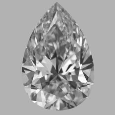 0.51 Carat Pear Brilliant cut Diamond, F IF   GIA, Serial# - 2314