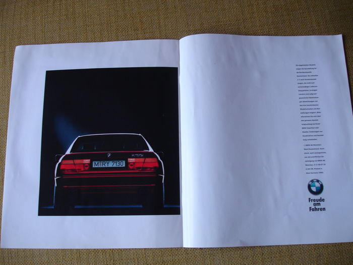 Car brochures (5x including the special first M-model M635
