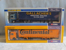 Corgi - Scale  1/50 - M.A.N Continental Tyres and M.A.N Gallacher Bros