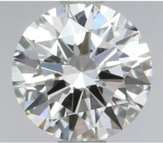 Round Brilliant Diamond 0.53 Carat , G IF  3EX,   Cert: GIA  #2309 -original image
