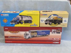 Corgi - Scale 1/50 - Lot with 3 models: Scammell, Mack and Volvo FH
