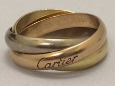 "Cartier - ""Trinity"" Ring - Classic - 18 karat gold - 750 - Ring size: 53"