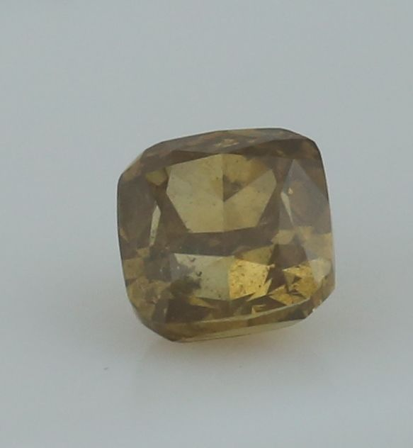 0.42 ct. Square Cushion Modified Brilliant Natural Diamond -  Fancy Brownish yellow - I 1