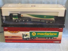 Corgi - Scale 1/50 - Lot with 2 x lorries: ERF BP Oil tanker and MAN Mac Farlane Transport