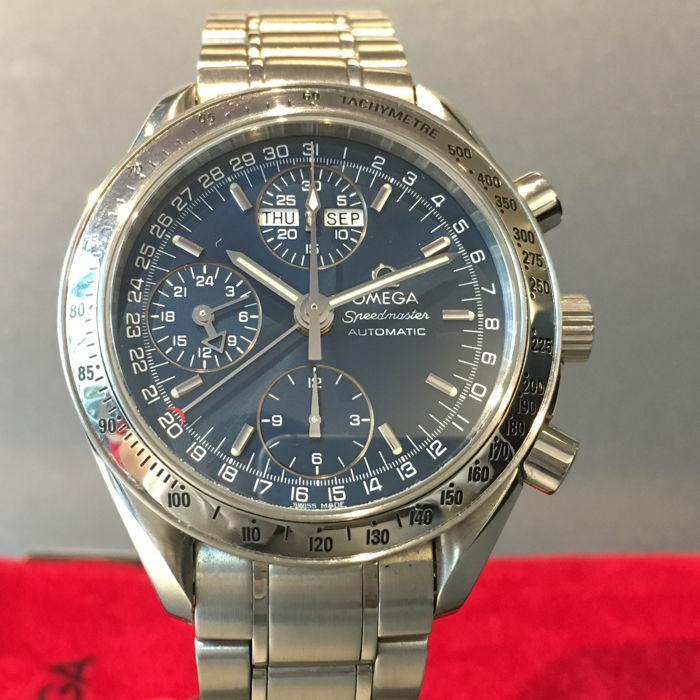 Omega - Omega Speedmaster Triple Date, Blue Dial - Ref. 1750084 - Men - 2000-2010