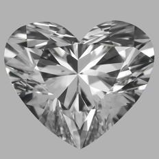 0.55 Carat Heart  Brilliant cut Diamond,  E IF  GIA, Serial# - 2316
