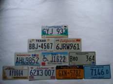 USA and Canada state license plates