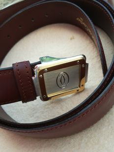 Cartier brown belt Santos