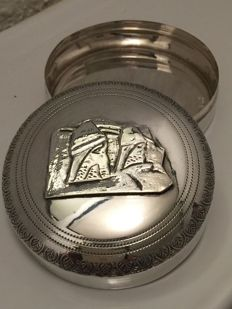Handmade silver peppermint box