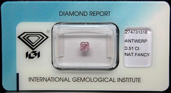 0.51 ct Certified Fancy Pink Diamond  - NO RESERVE