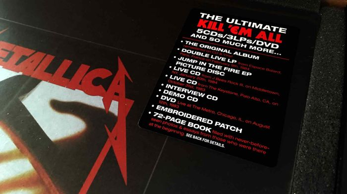 Kill 'em all. Deluxe edition. Metallica. Unboxing. Youtube.