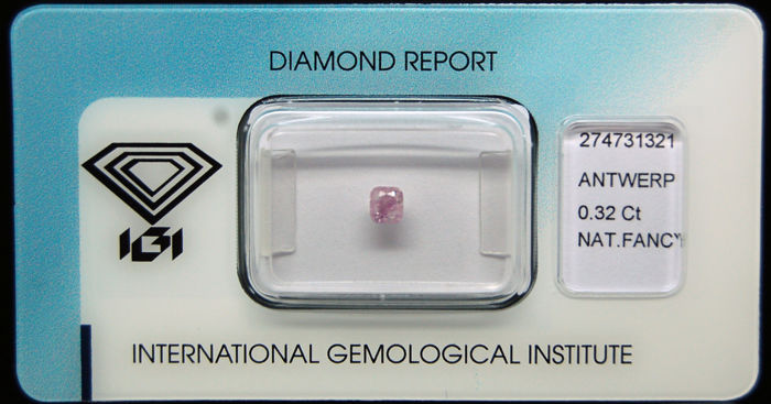 0.32 ct Certified Fancy Pink Diamond  - NO RESERVE