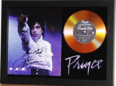 Prince  Purple Rain -  preprinted SIGNED GOLD PRESENTATION DISC