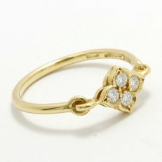 Cartier - 18k Yellow Gold Diamond Ring size 5