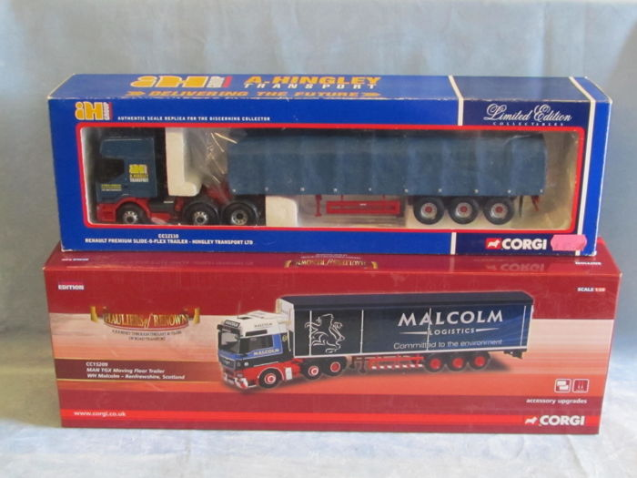 Corgi - Scale 1/50 - MAN Malcolm and Renault Hingley Transport