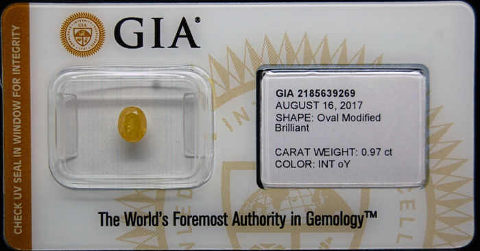 0.97ct Certified Fancy Intense Orangy Yellow Diamond  - NO RESERVE